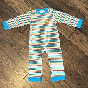 🌸NWOT🌸 Boy Size 18-24 Month Stripe Dino Romper